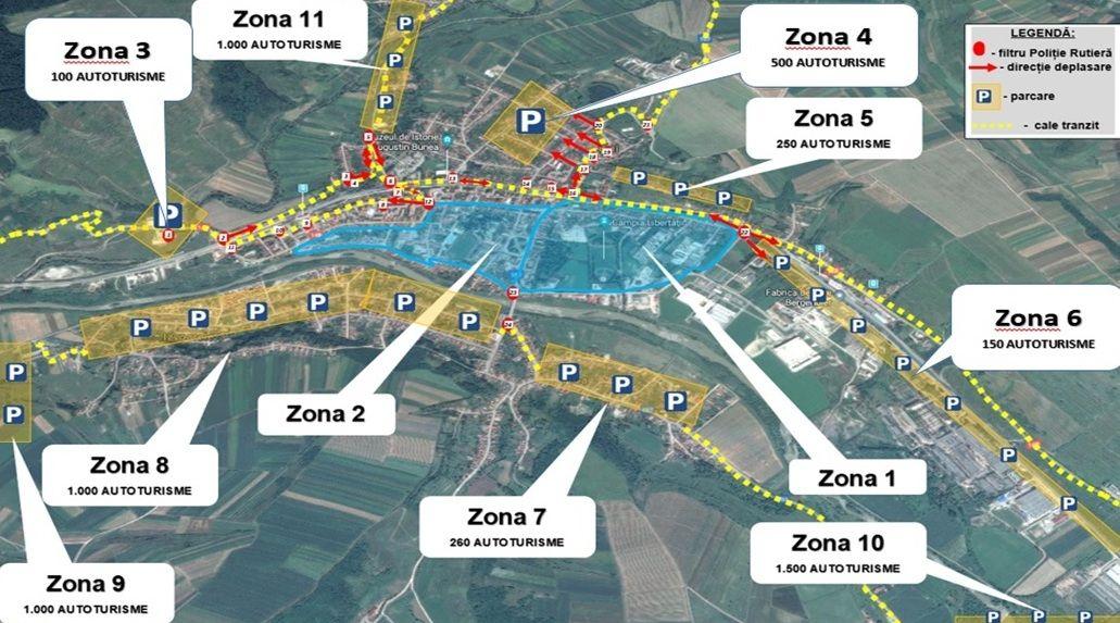 Vizita Papei Francisc la Blaj – Harta spaţiilor de parcare pentru autocare şi autoturisme
